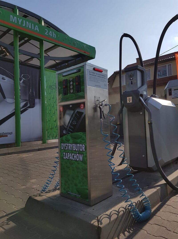 Zielone urządzenie dystrybutor płynu do spryskiwaczy na myjnię