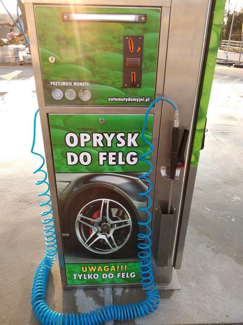 Automat do mycia felg zielony