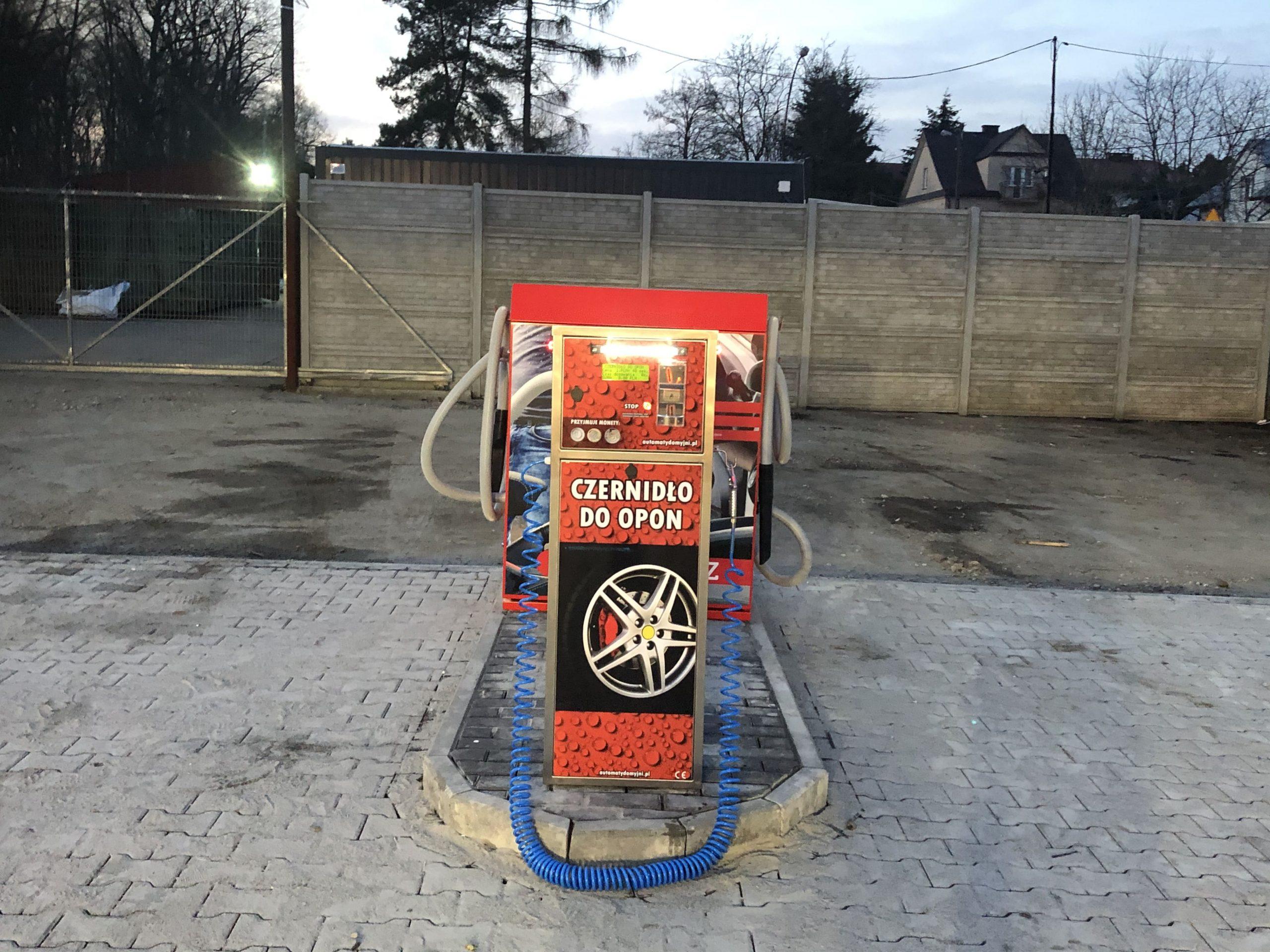 automat do myjni dystrybutor czernidła do opon Brzesko
