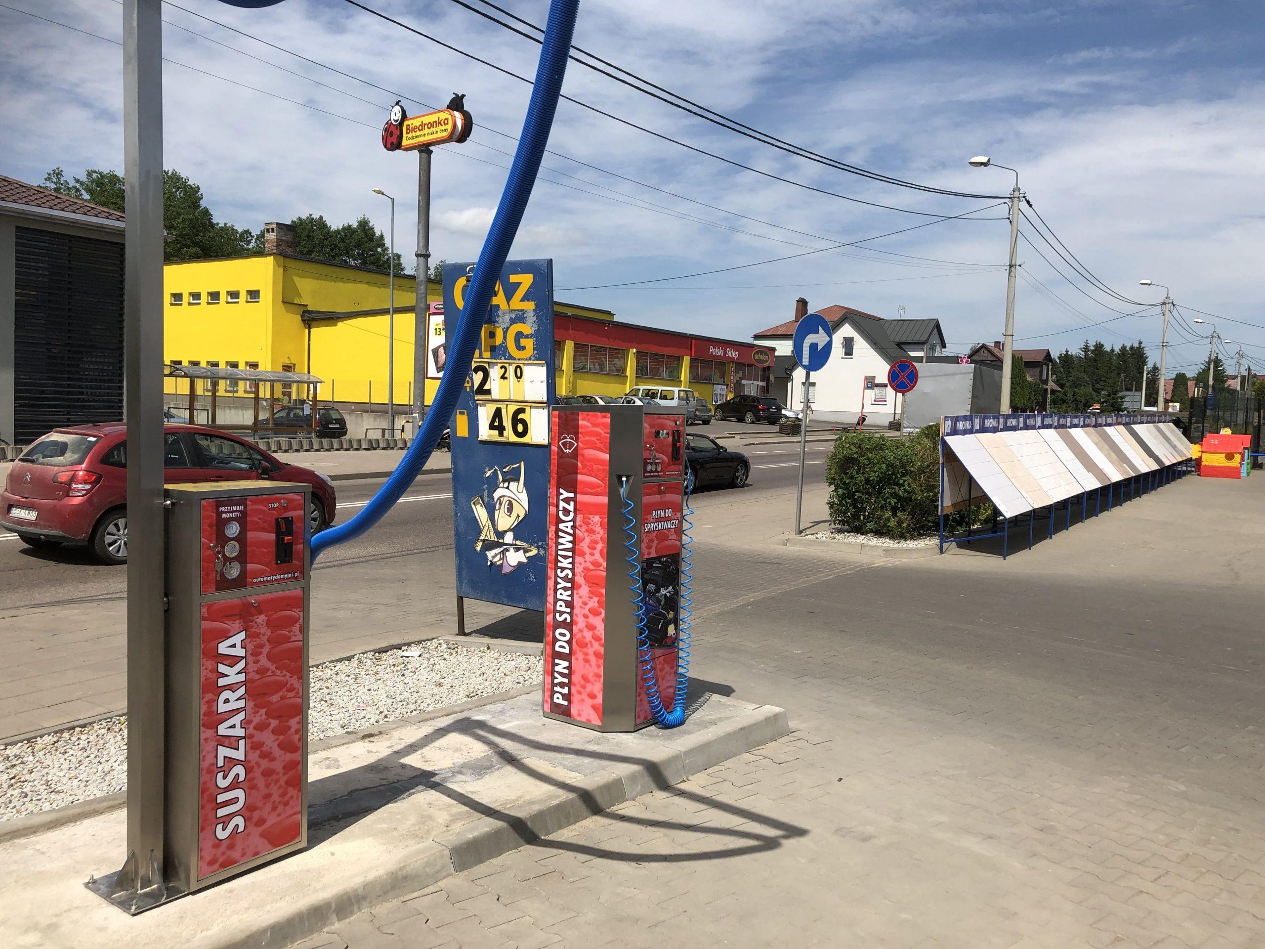 suszarka, dystrybutor płynu do spryskiwaczy do myjni samochodowej- Sokółka
